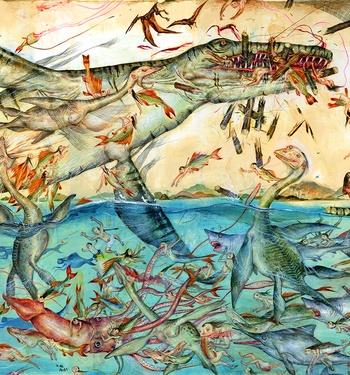 Mu Pans Dinoassholes Chapter 8, Fish Die and the Net Breaks